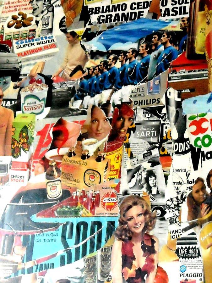 Uma colagem colorida do estilo da foto do vintage fotografia de stock royalty free