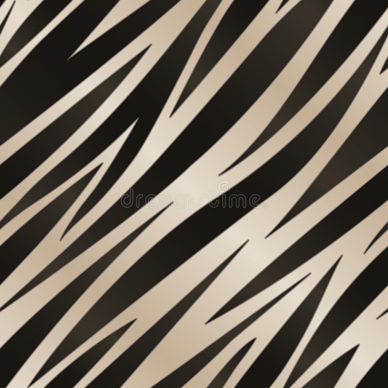 Teste padrão da listra da zebra ilustração stock