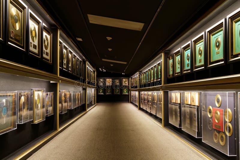 Uma coleção de registros do ouro foto de stock royalty free