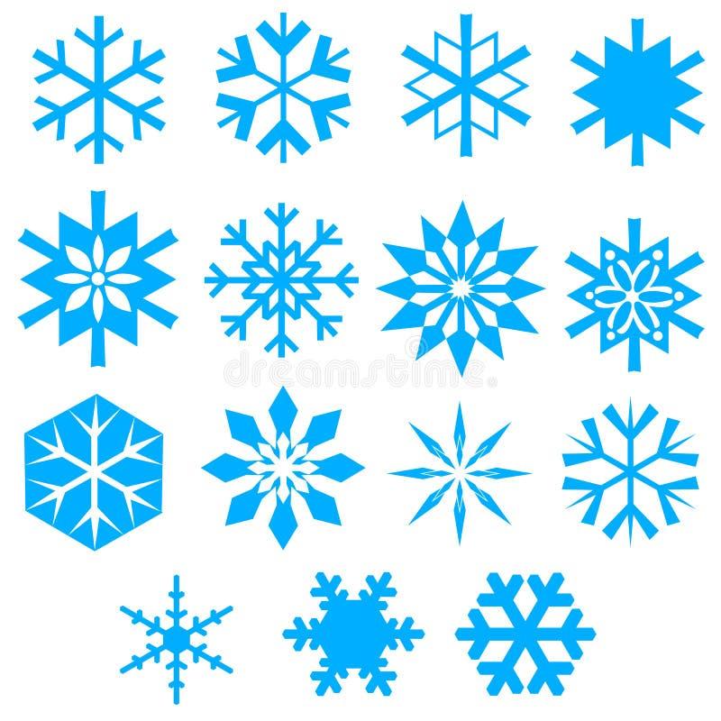 Uma coleção do snowfla do vetor ilustração do vetor