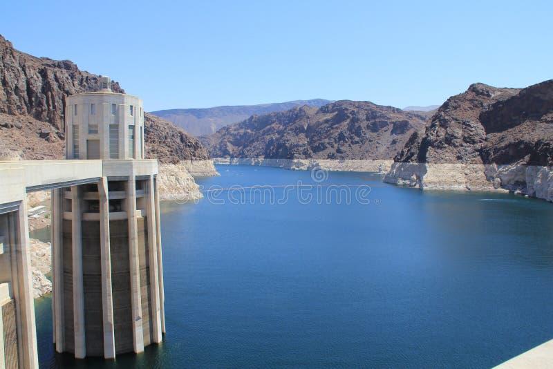 Uma coluna da barragem Hoover fotografia de stock royalty free