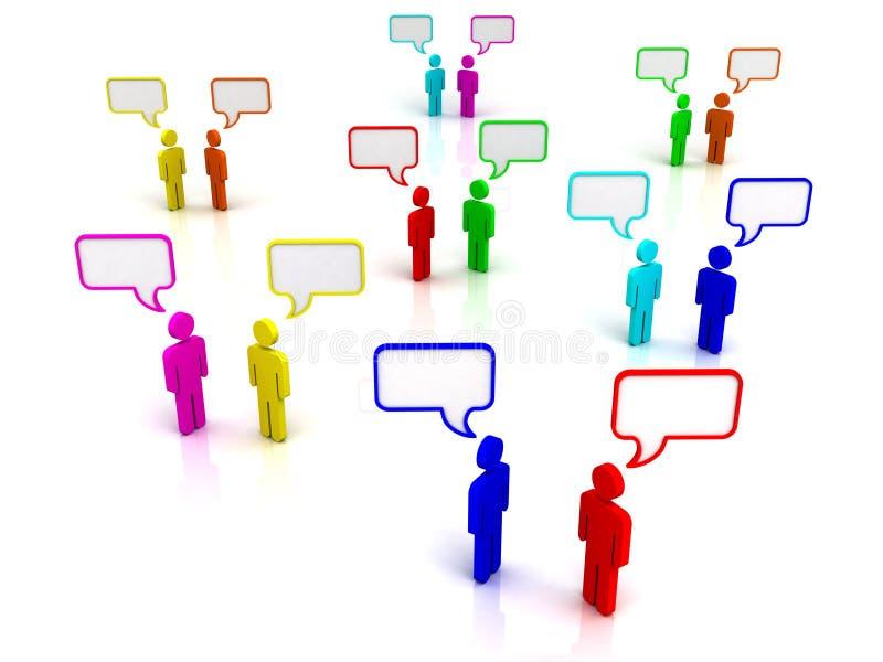 Uma comunicação ilustração royalty free