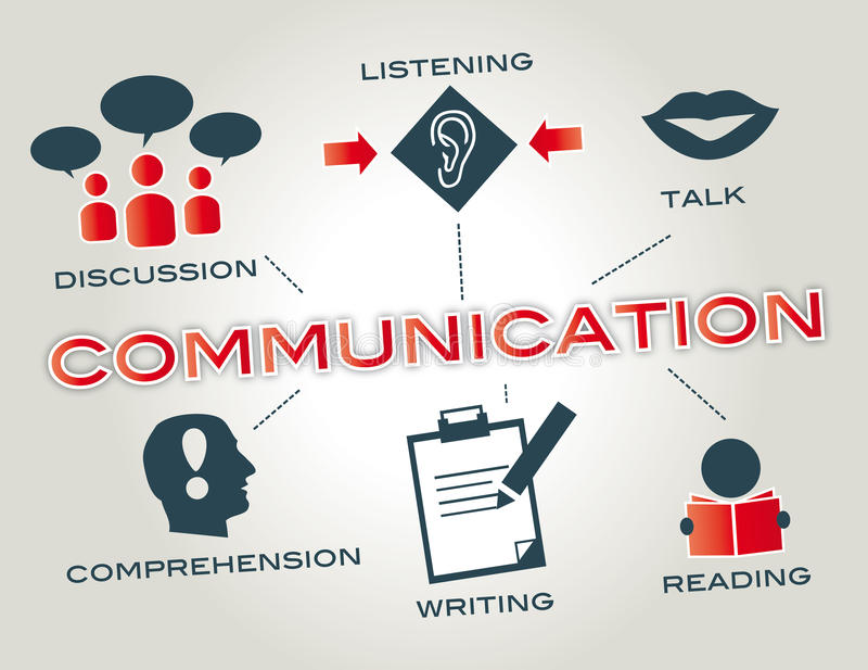 Uma comunicação ilustração stock