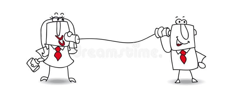 Uma comunicação ilustração do vetor