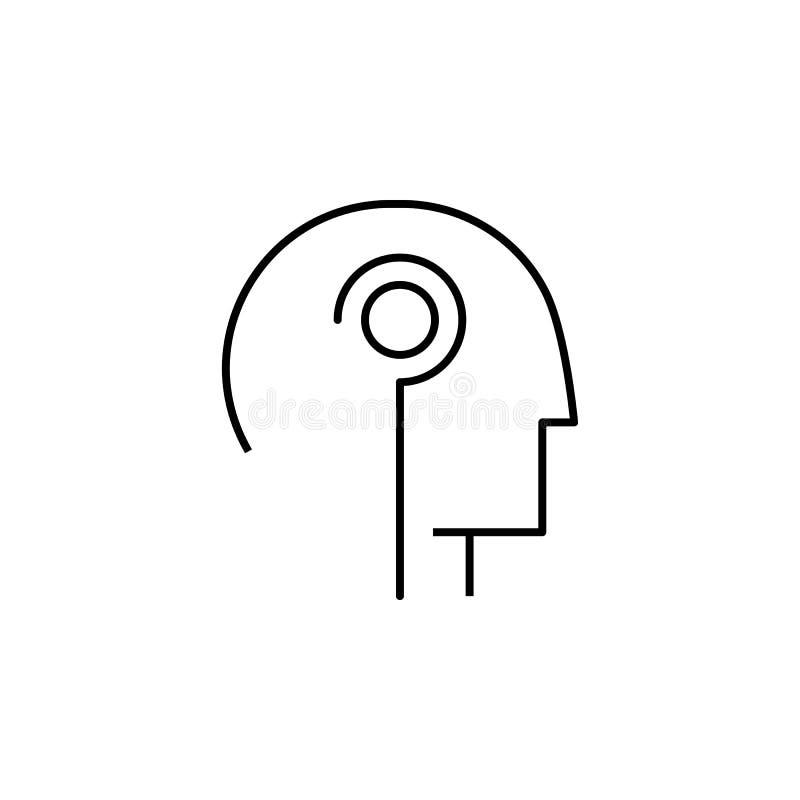 uma comunicação, cyber, ser humano, interação, ícone gêmeo Elemento do bloco tecnologico futuro para o conceito e o ícone móveis  ilustração do vetor