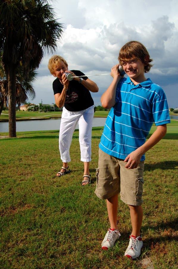 Uma comunicação da geração foto de stock