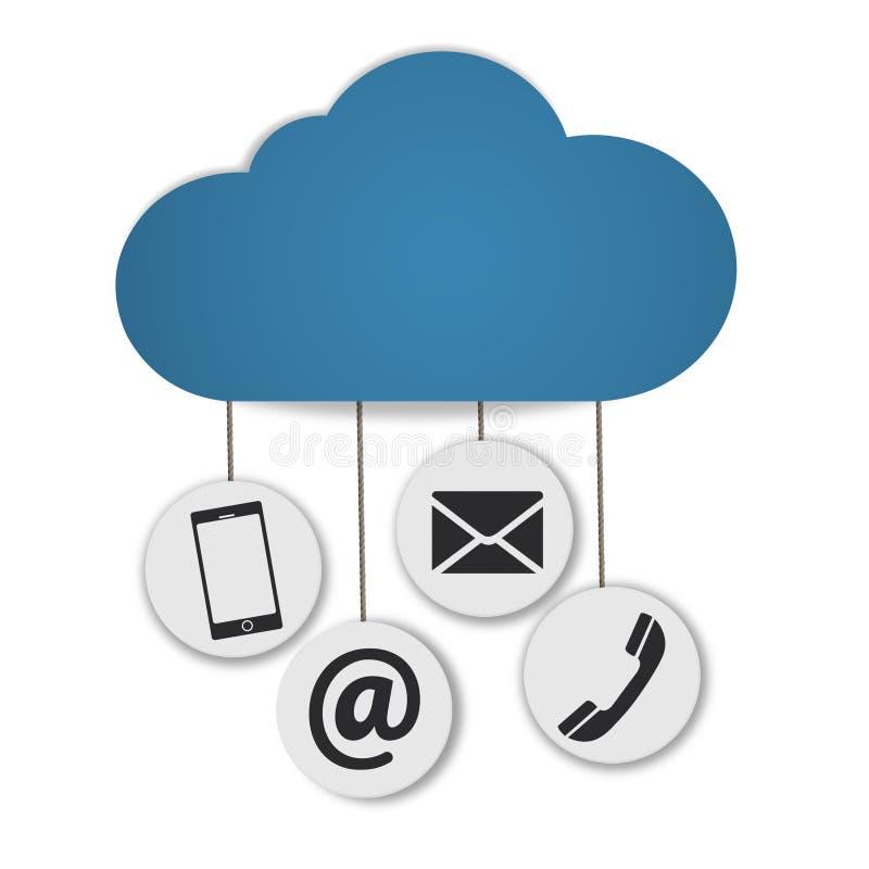 Uma comunicação da nuvem ilustração royalty free