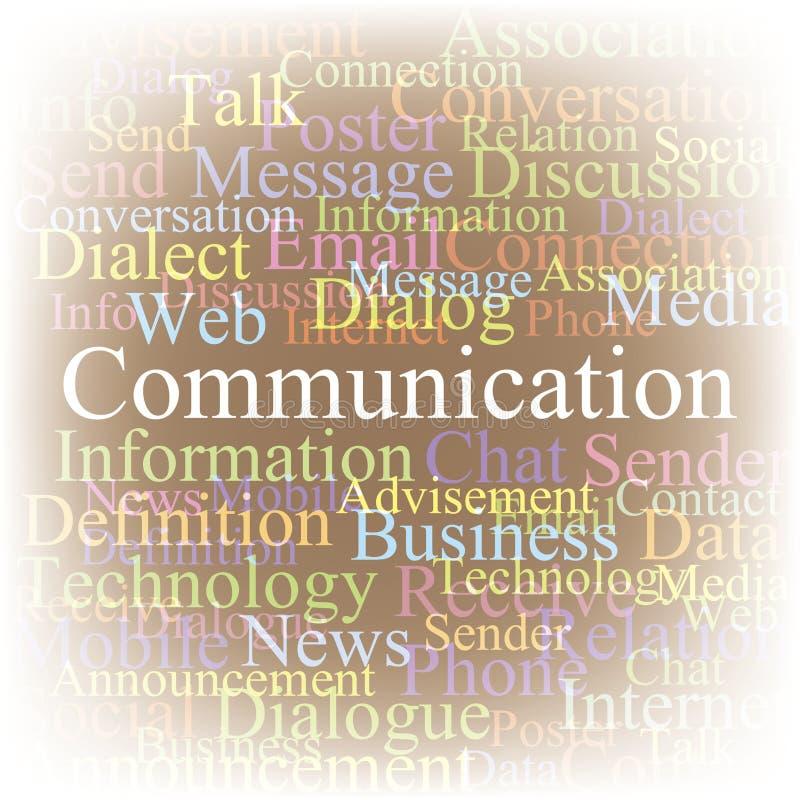 Uma comunicação da nuvem do Tag ilustração do vetor