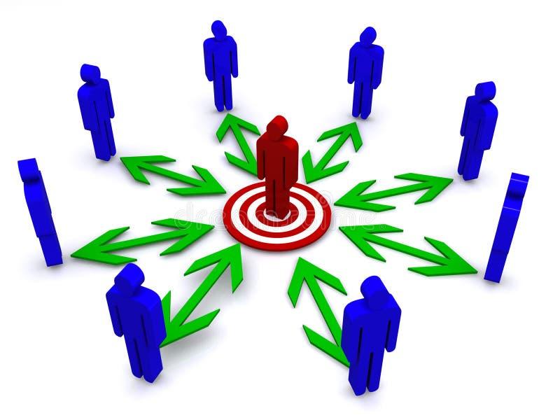 Uma comunicação de Businesss ilustração do vetor