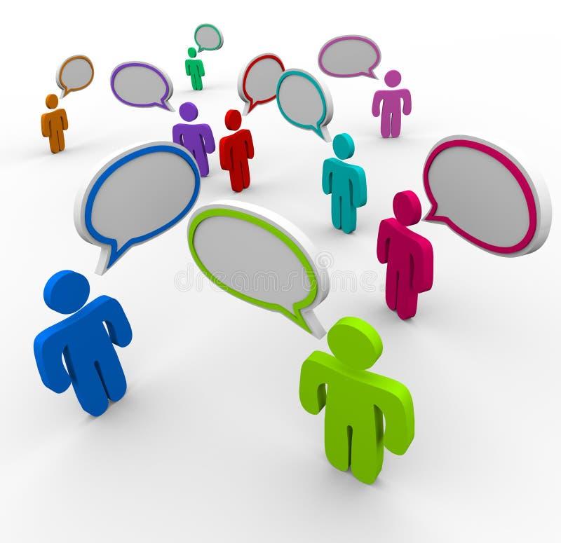 Uma comunicação desorganizada - discurso dos povos ilustração royalty free