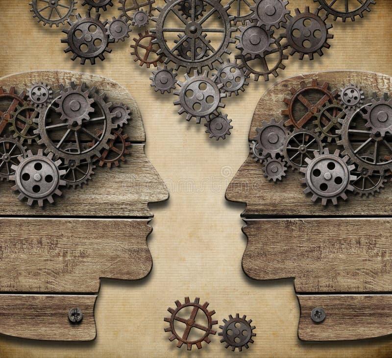 Uma comunicação, diálogo, troca de informação ilustração royalty free