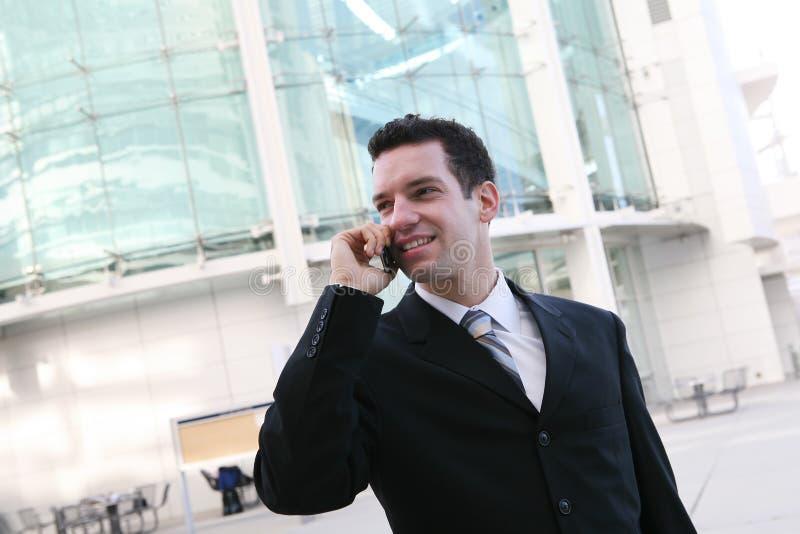 Uma comunicação do homem de negócio imagem de stock royalty free