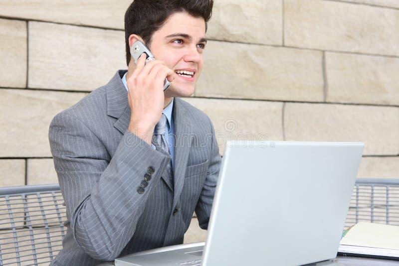 Uma comunicação do homem de negócio imagens de stock