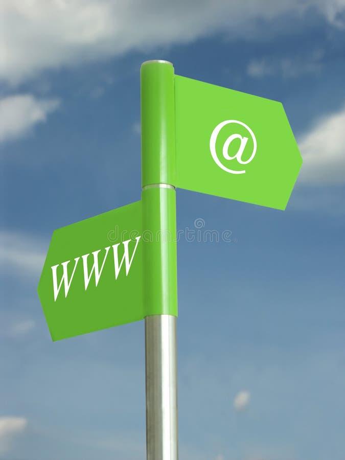 Uma comunicação do Internet fotos de stock