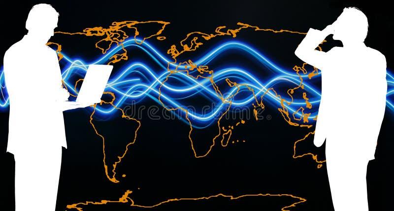 Uma comunicação do mundo ilustração royalty free