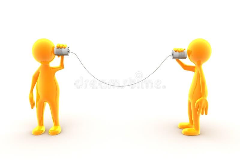 Uma comunicação do telefone do estanho ilustração do vetor