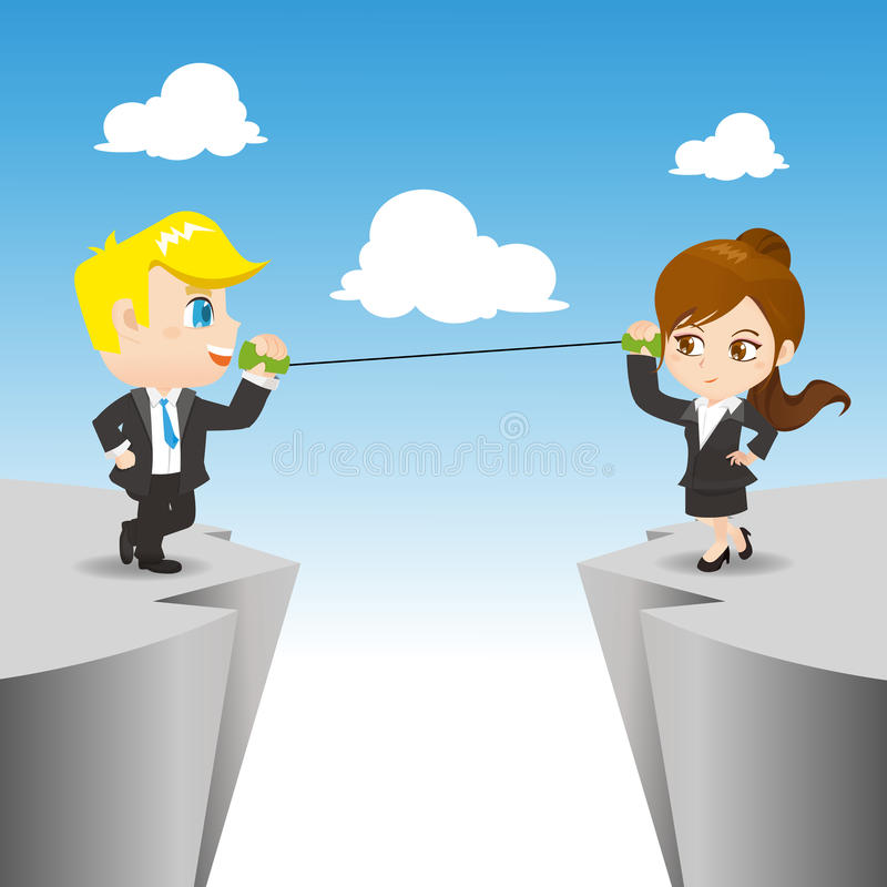 Uma comunicação dos empresários ilustração stock