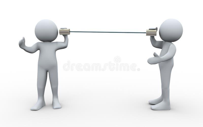 uma comunicação dos povos 3d ilustração do vetor