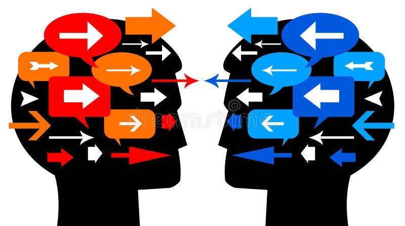 Uma comunicação dos povos ilustração stock