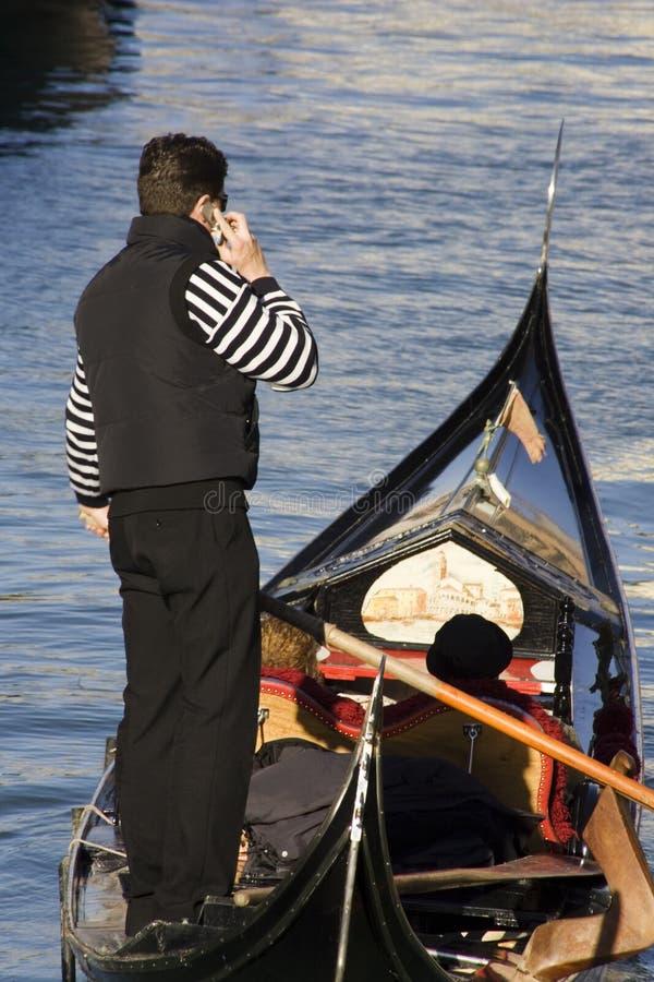 Uma comunicação em Veneza foto de stock