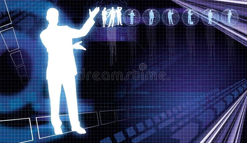 Uma comunicação empresarial 4 ilustração stock