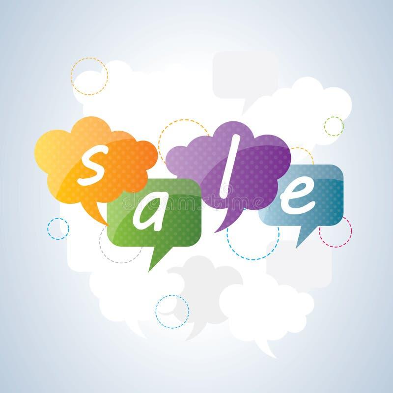 Uma comunicação empresarial com o produto da venda na oferta ilustração stock