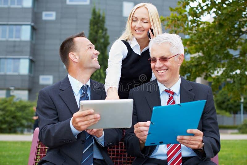 Uma comunicação empresarial moderna fotografia de stock royalty free