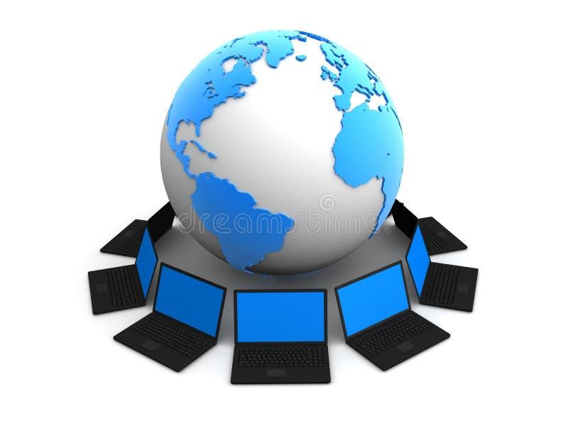 Uma comunicação global ilustração stock