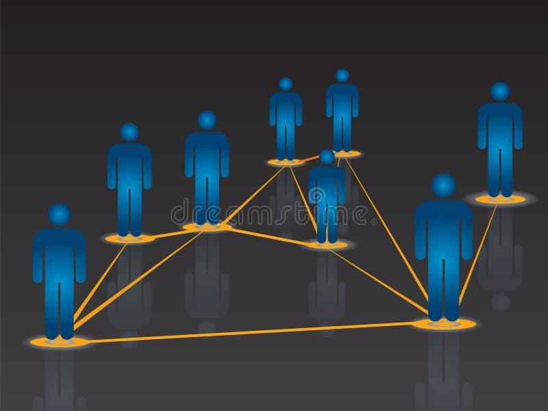 Uma comunicação global do Internet na rede social ilustração do vetor