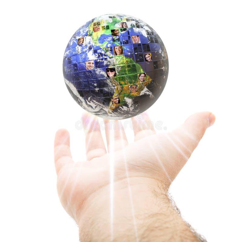 Uma comunicação global mundial imagem de stock royalty free
