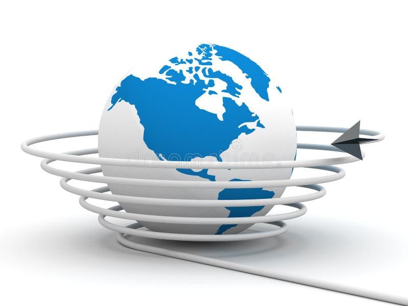 Uma comunicação global no mundo. ilustração royalty free