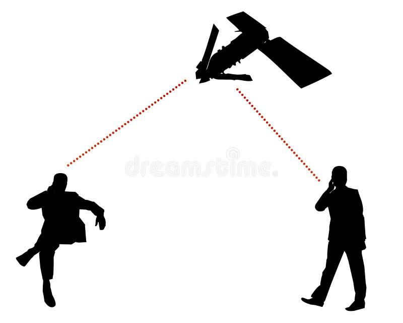 Uma comunicação global pelo satélite ilustração stock