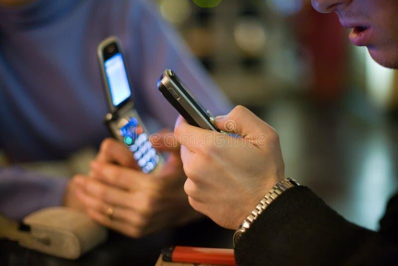 Uma comunicação móvel imagem de stock royalty free