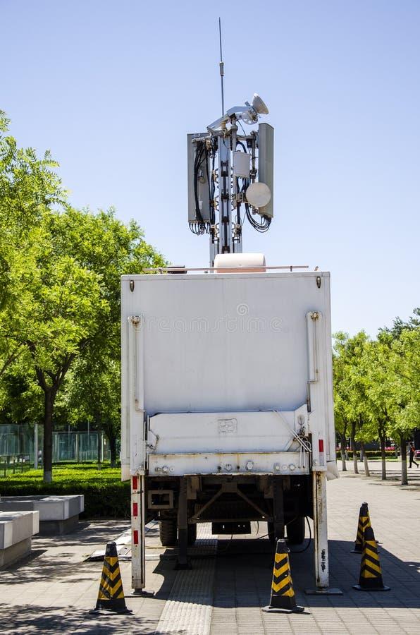 Uma comunicação móvel da emergência do veículo fotos de stock
