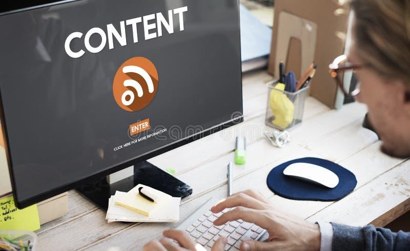 Uma comunicação social satisfeita Co da conexão dos trabalhos em rede dos meios do blogue fotos de stock royalty free