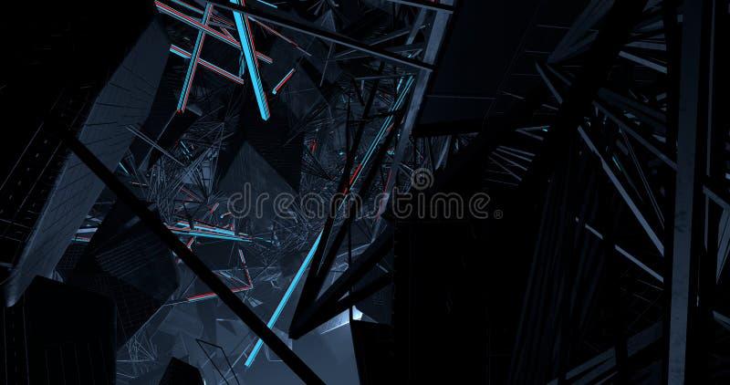 Uma conexão complexa das linhas ilustração do vetor