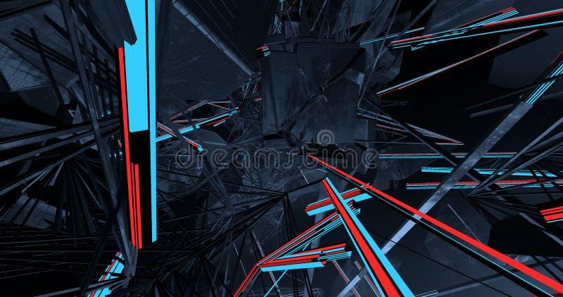 Uma conexão complexa das linhas ilustração stock