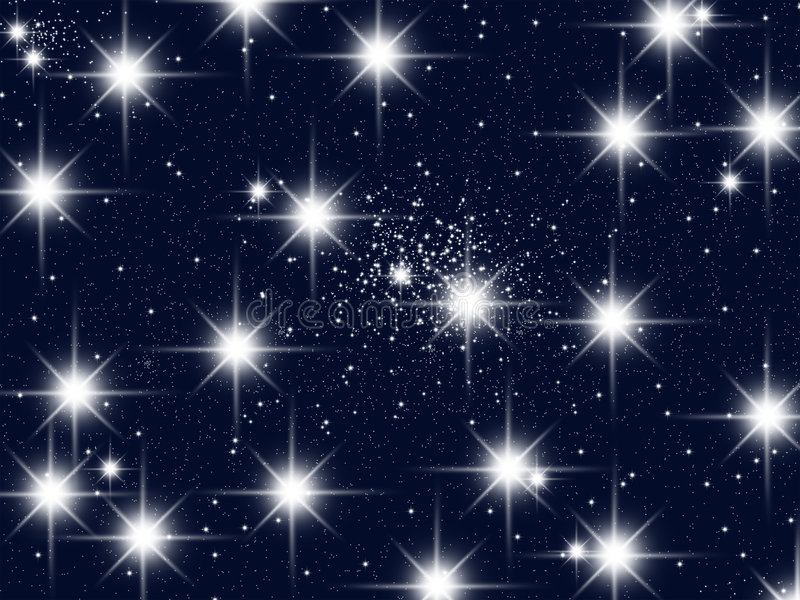 Uma congestão das estrelas ilustração royalty free