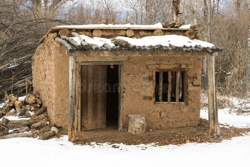 Uma construção do adôbe em Fazenda de los Marti'nez foto de stock royalty free