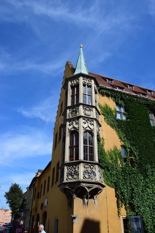 Uma construção histórica em Augsburg, Alemanha fotos de stock