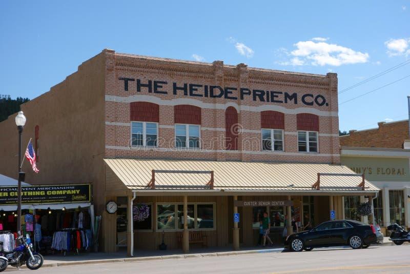 Uma construção histórica em South Dakota fotos de stock royalty free