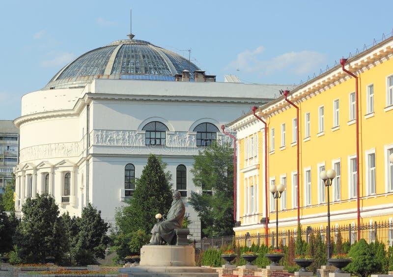 Uma construção histórica na cidade imagem de stock royalty free
