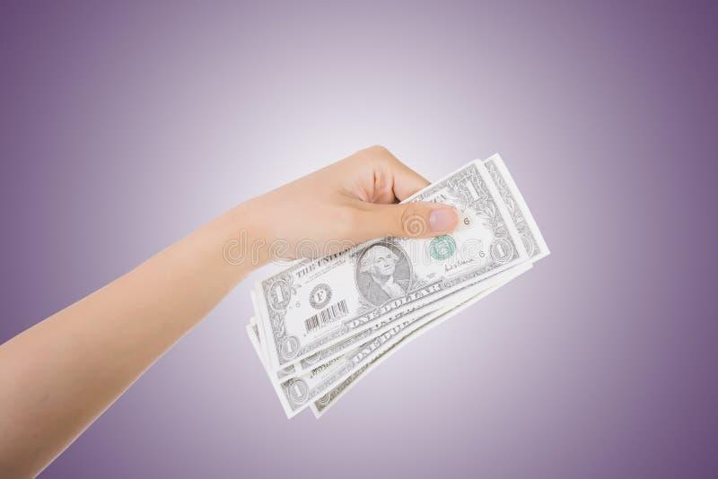 Uma conta de dólar fotos de stock