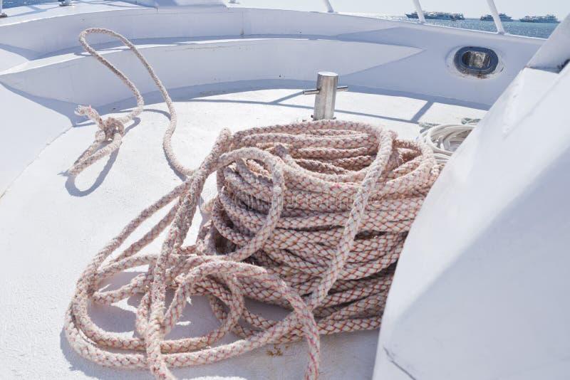 Uma corda de barco foto de stock