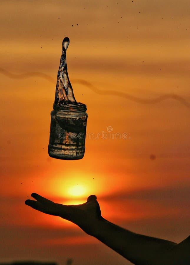 Uma criação diferente no tempo do por do sol fotografia de stock royalty free