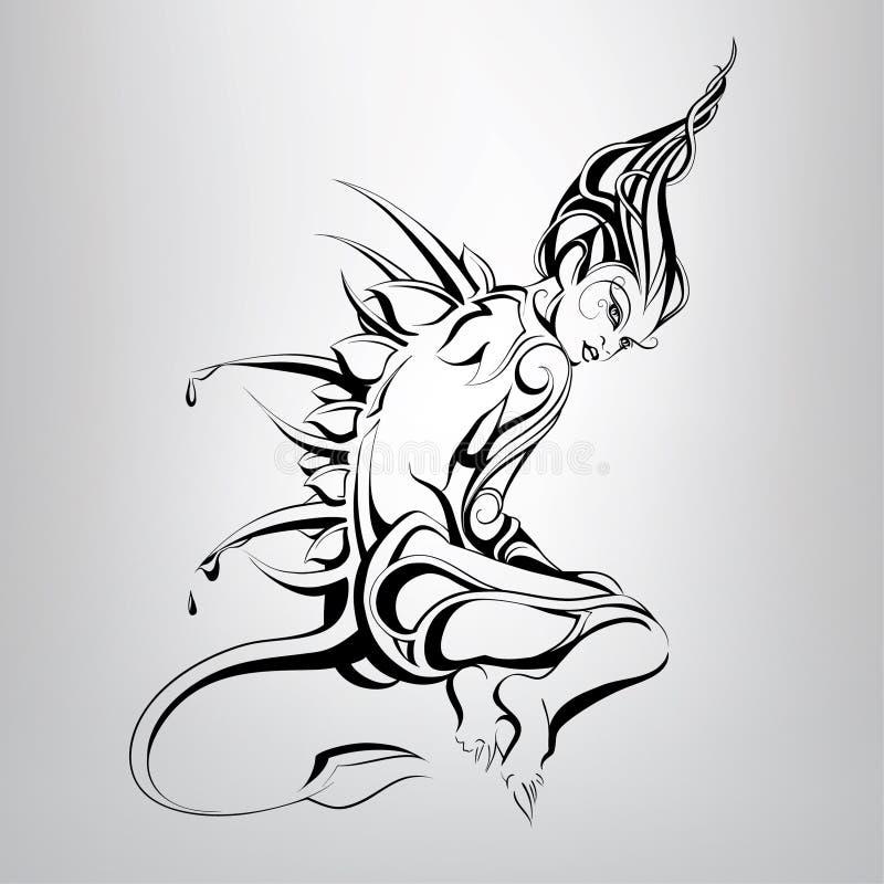 Uma criatura fabulosa Ilustração do vetor ilustração royalty free