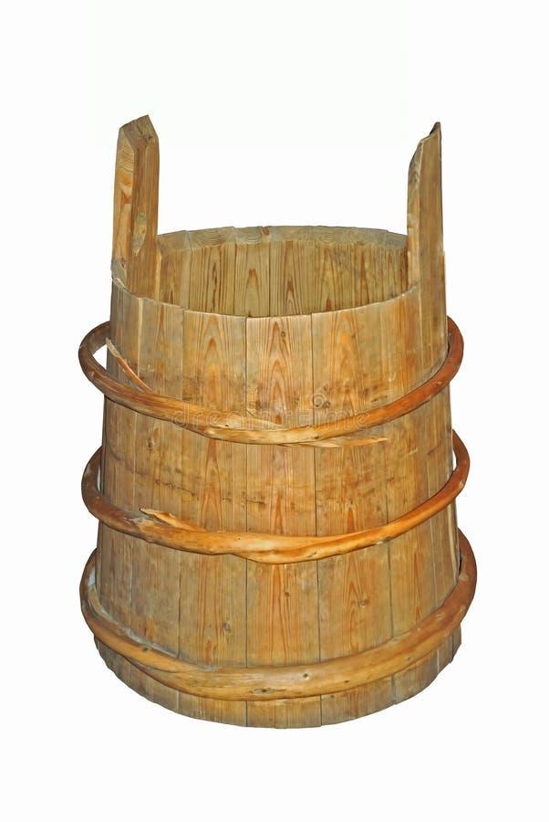 Uma cuba de madeira velha foto de stock royalty free