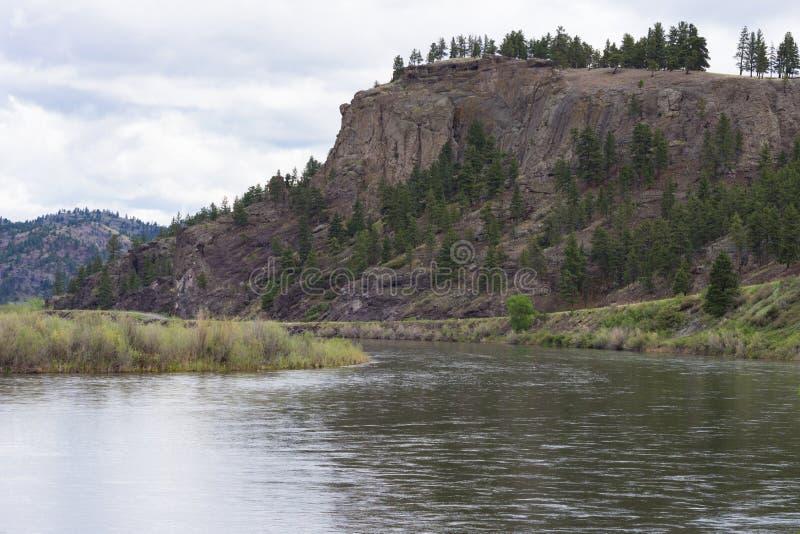 Uma curvatura no Rio Missouri fotografia de stock royalty free