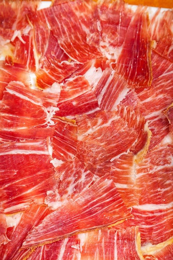 Download Placa Do Iberico Espanhol Do Jamon Cortada Foto de Stock - Imagem de curado, pork: 29837498
