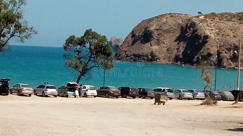 Uma das praias as mais agradáveis de Argélia fotografia de stock
